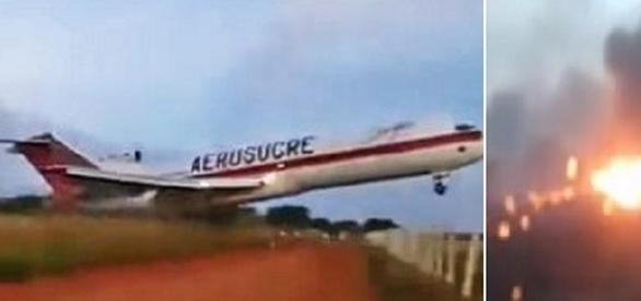 Vários ângulos mostram o descontrole do avião