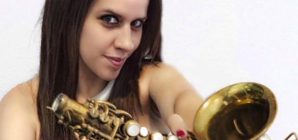 Fotografía del archivo de la saxofonista