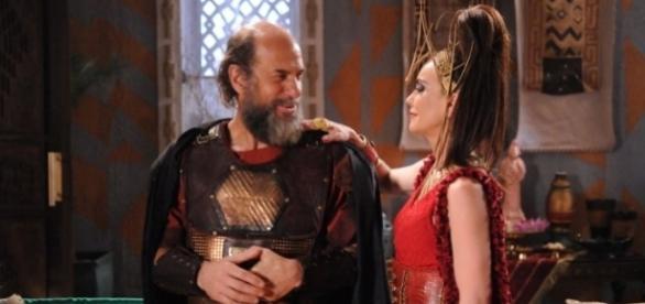 Kamir será traído por Ravena, que também acabará morrendo nos próximos capítulos da trama da Record