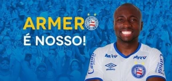 Armero vai reforçar o Bahia (Foto: site oficial)