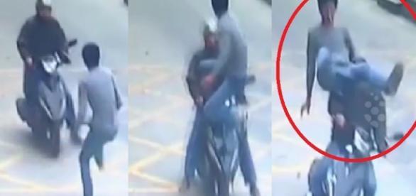 Chinês é roubado e 'incorpora' lutador voador em vídeo inacreditável - Google
