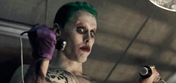 """Jared Leto actuando como el """"Joker"""""""