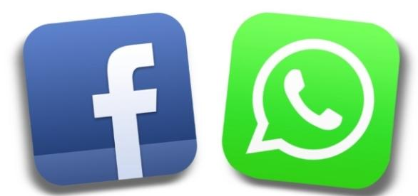 Le due icone di Facebook e WhatsApp