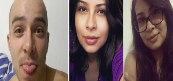 Na primeira imagem o principal suspeito de ter cometido o crime, e na segunda a jovem que foi brutalmente agredida até a morte.