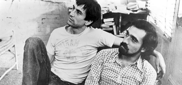 """Robert De Niro y Martin Scorsese en el set de """"Taxi Driver"""""""