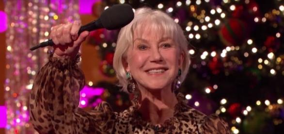 Helen Mirren gave an alternative Queen's speech on The Graham Norton Show for Christmas/Photo via digitalspy.com
