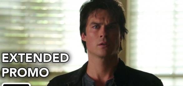 The Vampire Diaries 8x08: Damon e Stefan continuam trabalhando para Cade (Foto: CW/Youtube)