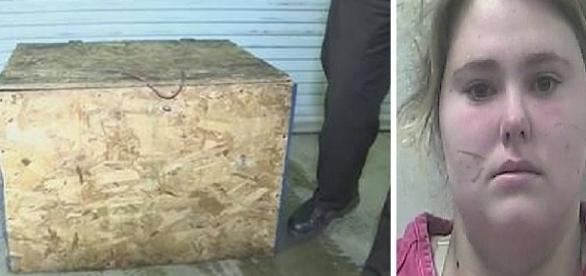 Menina era mantida presa em caixa de madeira