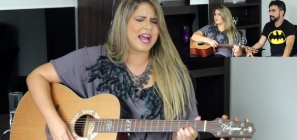 Muita emoção na noite de Natal para a cantora sertaneja