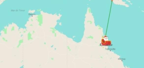 Siga o trenó do Papai Noel na noite de Natal
