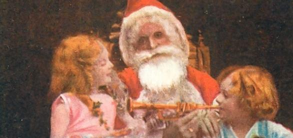 Tuck postcard of Father Christmas, 1919 (image in public domain)