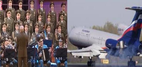 Avião com coral militar cai - Imagem/Google