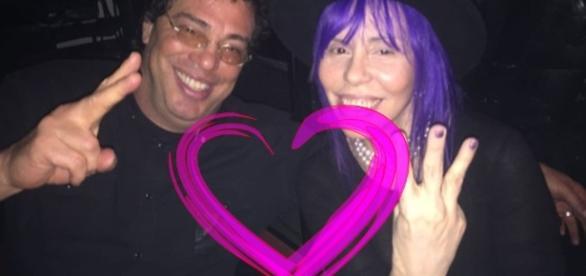 Casagrande e Baby do Brasil assumem que estão namorando há 4 meses