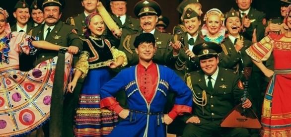 O grupo militar Ensemble Aleksandrov estava no voo (Foto: Reprodução)