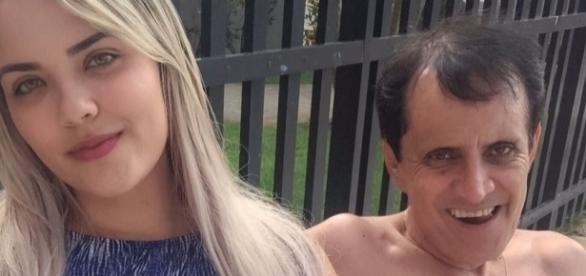 O prefeito Orlandinho de Canindé e sua namorada 35 anos mais jovem do que ele