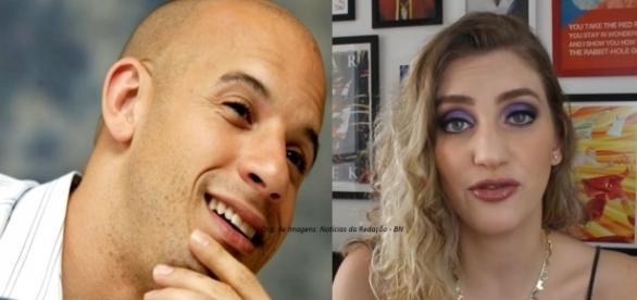 Após polêmica em entrevista de Vin Diesel, Carol some da internet (Foto: Reprodução)