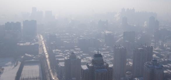 Heavy levels of smog blanket Harbin, China. Fredrik Rubensson-Wikimedia CCA-SA-2
