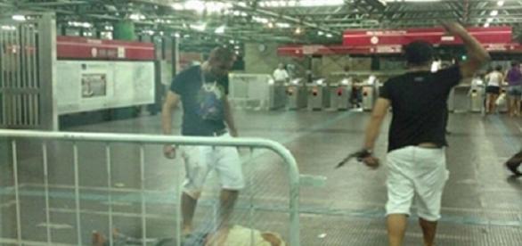 Luis Carlos Ruas apanhou na Estação Pedro II
