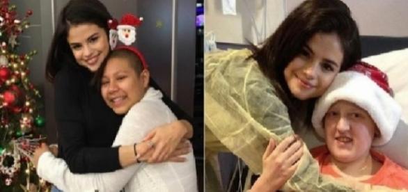 Selena Gomez visitou crianças hospitalizadas