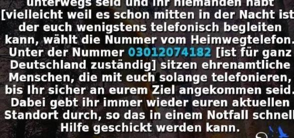 Telefonische Wegbegleitung - Rufnummer für gesamt Deutschland