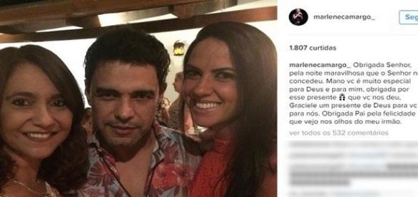 Marilene Camargo elogiou Graciele Lacerda em sua rede social