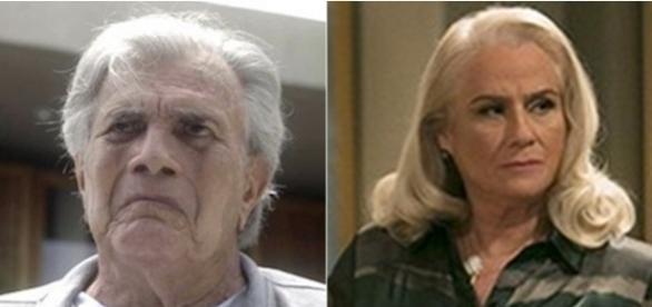 Tarcísio Meira e Vera Holtz em 'A Lei do Amor'