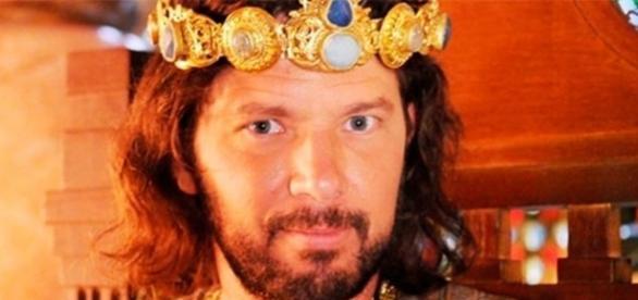 Rei Adonizedeque em 'A Terra Prometida' (Divulgação/Record)