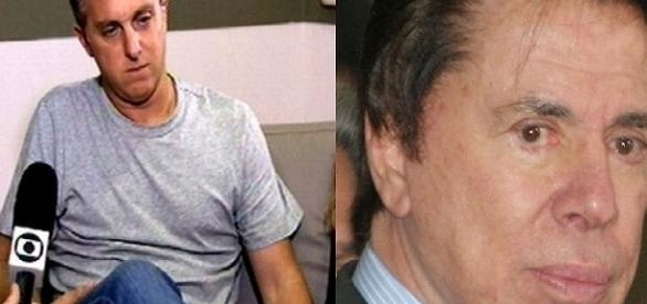 Silvio Santos chateado com Luciano Huck
