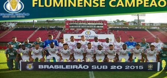 Do elenco campeão brasileiro sub-20 em 2015, Flu terá oito jogadores no seu grupo profissional para o ano que vem (Foto: Site Oficial da CBF)