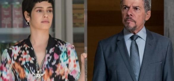 Flávia descobre que Tião é o seu pai biológico e o procura, mas ele a rejeita