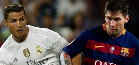 Foto de Messi e Cristiano Ronaldo