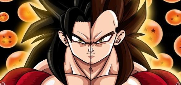 La transformación del super Saiyajin 4