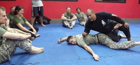 Praticantes de arte marcial russa 'Systema', na Argentina