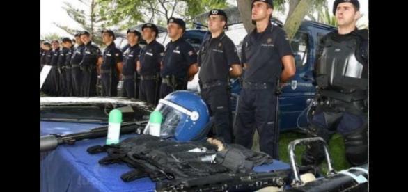 Corpo de Intervenção sempre na linha da frente na reposição e manutenção da ordem pública.