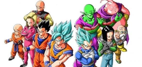 Fan art de los peleadores elegidos para representar al Universo 7