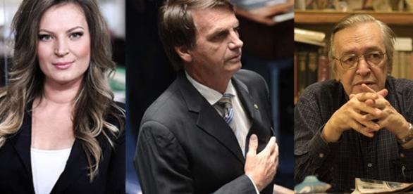 Joice Hasselmann, Jair Bolsonaro e Olavo de Carvalho se destacam entre conservadores conhecidos.