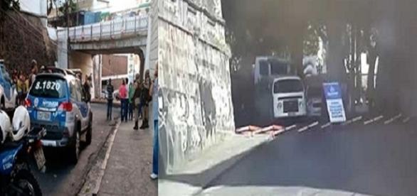 Pedra solta de viaduto e mata pedestre em Salvador