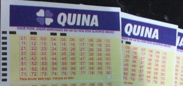 A Caixa fez sorteio da Quina (Foto do autor da matéria)