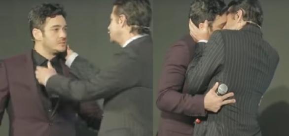 Atores da Globo de beijam - Foto/Reprodução: Youtube