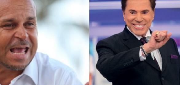 Carlinhos e Silvio Santos - Foto/Montagem