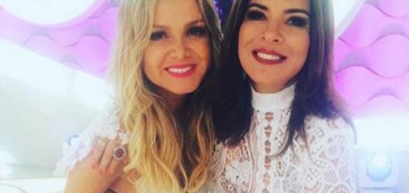 Eliana e Mara Maravilha - Foto/Reprodução: SBT