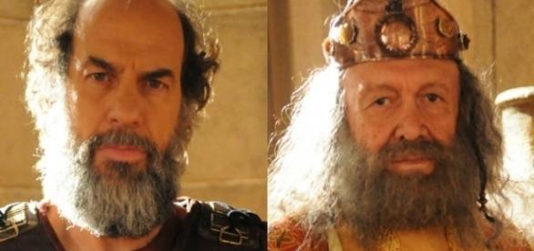 Kamir e Durgal em 'A Terra Prometida' (Divulgação/Record)