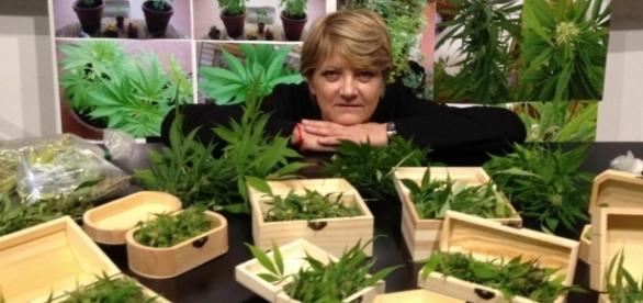 L'attivista pro cannabis dei Radicali Rita Bernardini