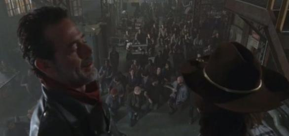 Negan e Carl no próximo episódio