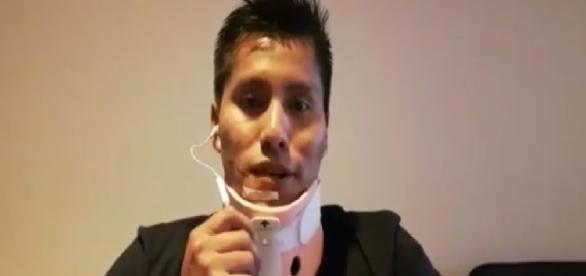 Sobrevivente grava vídeo de agradecimento - Imagem/Youtube