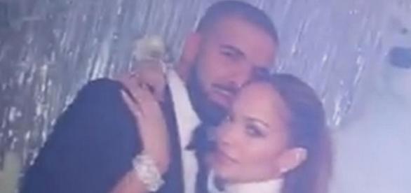 Jeniffer Lopez e Drake curtindo a festa juntinhos - Reprodução/Internet