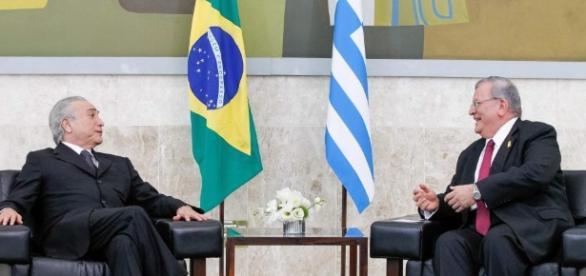 Kyriakos Amiridis em conversa com o presidente Michel Temer