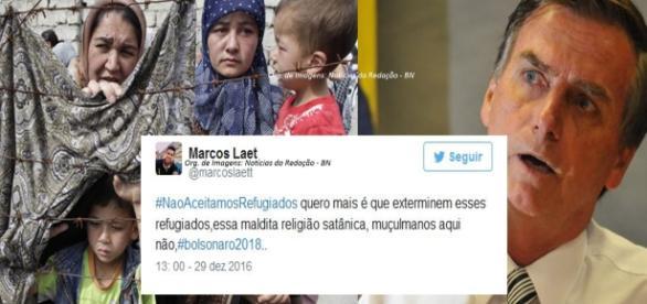 Seguidores de Bolsonaro fazem campanha de ódio na internet (Foto: Reprodução)