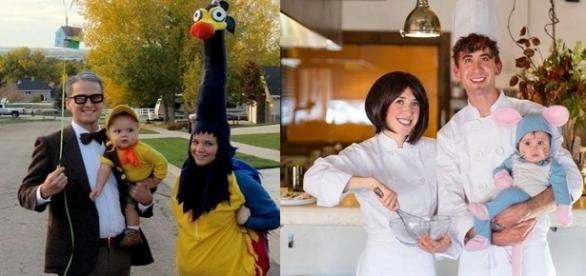 As famílias resolveram fazer cosplays bem divertidos