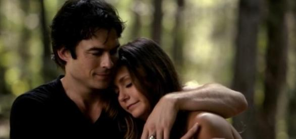 Damon Salvatore e Elena Gilbert